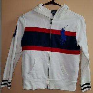 Boys Polo Ralph Lauren Zip Up Hoodie Jacket Small